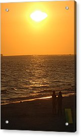 Sunset Acrylic Print by Ronald T Williams