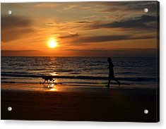Sunset Run Acrylic Print