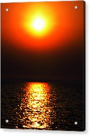 Acrylic Print featuring the photograph sunset Santorini Greece by Colette V Hera  Guggenheim