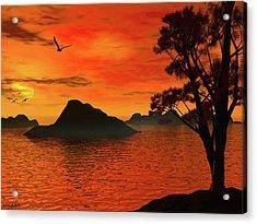 Sunset Serenade Acrylic Print by Lourry Legarde