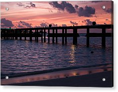 Acrylic Print featuring the photograph Sunset by Shirley Mitchell