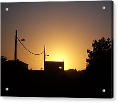 Acrylic Print featuring the photograph Sunset Silhouette by Peter Mooyman