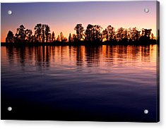 Acrylic Print featuring the photograph Sunset Silhouette by Scott Holmes
