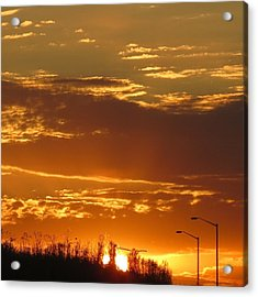 Acrylic Print featuring the photograph Sunset Skies by Nikki McInnes