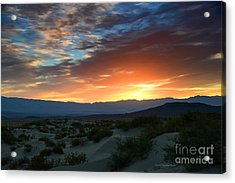 Sunset Sky Sand Dunes Death Valley National Park Acrylic Print
