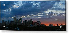 Sunset Skyline Edmonton Acrylic Print