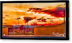 Sunset Station Acrylic Print by Linda Constant