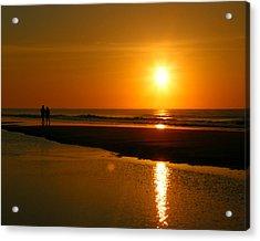 Acrylic Print featuring the photograph Sunset Stroll by Mark J Seefeldt