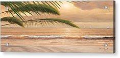 Sunset Surf Panoramic Acrylic Print by Diane Romanello