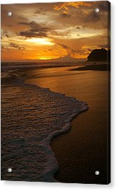 Sunset Surf Playa Hermosa Costa Rica Acrylic Print by Michelle Wiarda