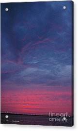 Acrylic Print featuring the photograph Sunset Surprise by Tannis  Baldwin