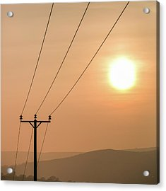 Sunset Telecoms Acrylic Print by Peter Chadwick LRPS