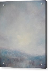 Sunset Through The Mist Over Stenbury Down Acrylic Print by Alan Daysh