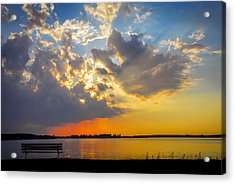 Sunset Acrylic Print by Travis MacDonald