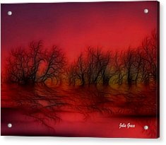 Sunset Trees Acrylic Print