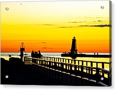 Acrylic Print featuring the photograph Sunset Walk by Randall  Cogle
