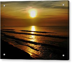 Sunset Waves Acrylic Print by Colin Clancy