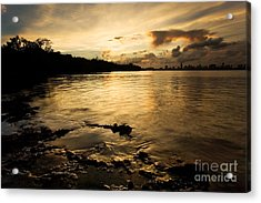 Sunset With Miami In The Distance Acrylic Print by Matt Tilghman