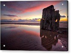 Sunset Wreck Acrylic Print