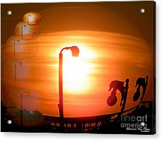 Sunsetzies Acrylic Print by Laurence Oliver