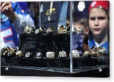 Super Bowl Rings  Acrylic Print by Brittany H