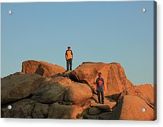 Acrylic Print featuring the photograph Super Kid And Friend by Carolina Liechtenstein