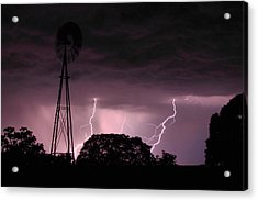 Super Storm Acrylic Print by Linda Unger