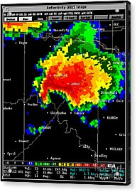 Supercell With Hook Echo, Radar Acrylic Print by Science Source