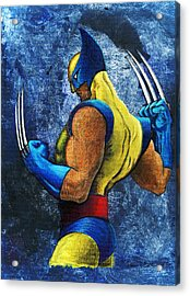 Superhero Acrylic Print by Steve Benton