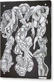 Superheroes Acrylic Print by Rick Hill