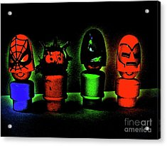Superheroes Acrylic Print by Ricky Sencion