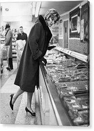 Supermarket Shopper Acrylic Print by Hill Photographers/Archive Photos