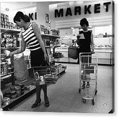 Supermarket Shopping Acrylic Print by V Thompson