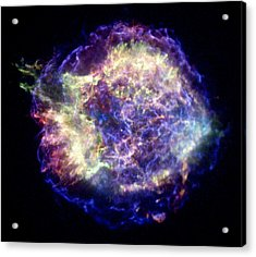 Supernova Remnant Cassiopeia A, X-ray Acrylic Print by Nasacxcuniv. Of Mass