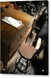 Supervisors Desk Acrylic Print by Jackie Stier