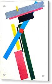 Suprematism Acrylic Print by Kazimir Severinovich Malevich
