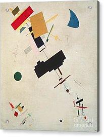 Suprematist Composition No 56 Acrylic Print by Kazimir Severinovich Malevich