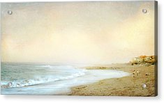 Surf Casters Acrylic Print by Karen Lynch
