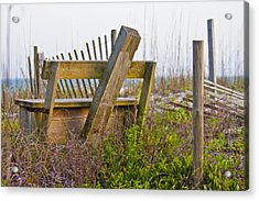 Surf City Chair Acrylic Print by Betsy Knapp