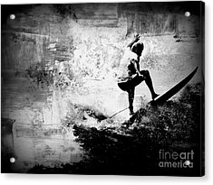Surf In Action Acrylic Print by Kevin Moore