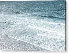 Surf Lesson Acrylic Print by Thenakedsnail