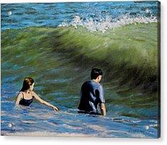 Surf Play Acrylic Print