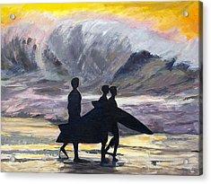 Surf Riders Acrylic Print