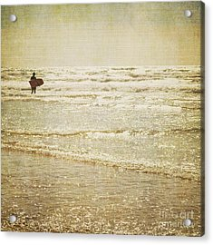 Surf The Sea And Sparkle Acrylic Print by Lyn Randle