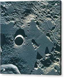 Surface Of The Moon Acrylic Print by Stockbyte