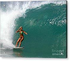 Surfer Girl Acrylic Print by Paul Topp