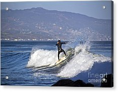 Surfer Acrylic Print by Molly Heng
