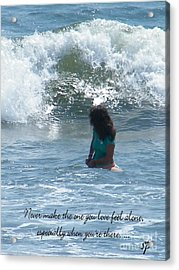 Surfing Eyes Acrylic Print by Laurence Oliver