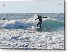 Surfing The Atlantic Acrylic Print by Brian Roscorla