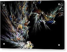 Acrylic Print featuring the digital art Surfing Waves by Ester  Rogers